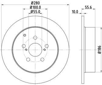Тормозной диск NISSHINBO ND1084K.