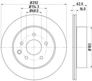 Вентилируемый тормозной диск на NISSAN ROGUE 'NISSHINBO ND2003K'.