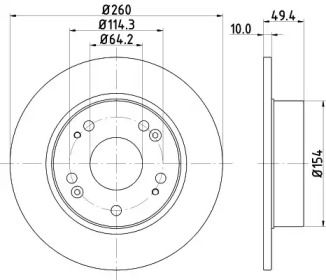 Тормозной диск NISSHINBO ND8004K.