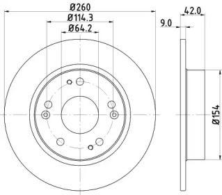 Тормозной диск NISSHINBO ND8003K.