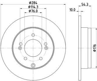 Тормозной диск на KIA CADENZA 'NISSHINBO ND6003K'.