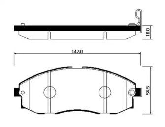 Передние тормозные колодки 'HSB HP0018'.