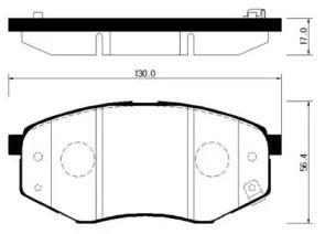 Переднї гальмівні колодки HSB HP0041.