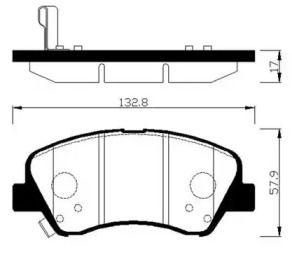 Передня гальмівні колодки 'HSB HP0047'.