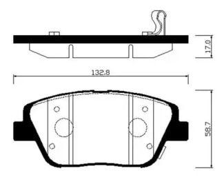 Переднї гальмівні колодки 'HSB HP1045'.