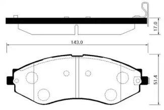 Переднї гальмівні колодки 'HSB HP2012'.