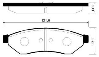 Заднї гальмівні колодки 'HSB HP2018'.