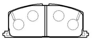 Передня гальмівні колодки 'HSB HP5020'.