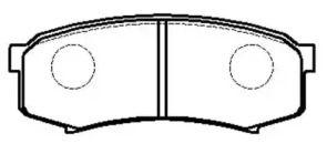 Заднї гальмівні колодки 'HSB HP5037'.