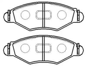 Передня гальмівні колодки 'HSB HP5047'.