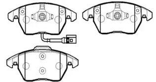 Передня гальмівні колодки 'HSB HP9599'.