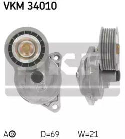Натяжний ролик ременя генератора на Мазда Триб'ют 'SKF VKM 34010'.