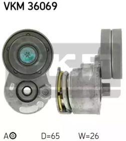 Натяжний ролик ременя генератора на Мітсубісі Карізма SKF VKM 36069.