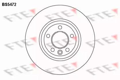 Вентилируемый тормозной диск 'FTE BS5472'.