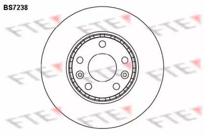 Вентилируемый тормозной диск 'FTE BS7238'.