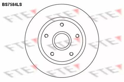 Тормозной диск 'FTE BS7584LS'.