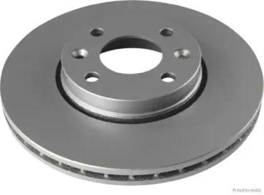 Перфорированный тормозной диск на Ниссан Микра 'JAKOPARTS J3301088'.