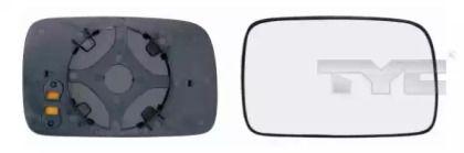 Праве скло дзеркала заднього виду TYC 337-0041-1.