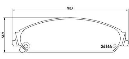 Гальмівні колодки BREMBO P 11 017.