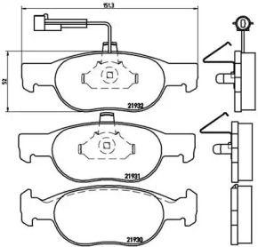 Гальмівні колодки 'BREMBO P 23 057'.