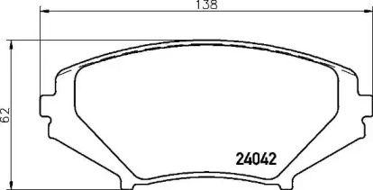 Гальмівні колодки на MAZDA RX-8 'BREMBO P 49 034'.