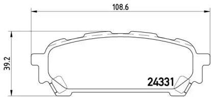 Гальмівні колодки 'BREMBO P 78 014'.