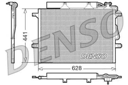Радіатор кондиціонера на Mercedes-Benz W211 DENSO DCN17018.