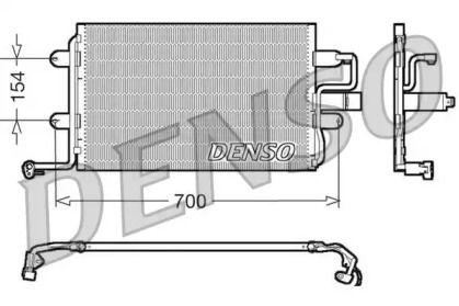 Радиатор кондиционера на Фольксваген Джетта 'DENSO DCN32017'.