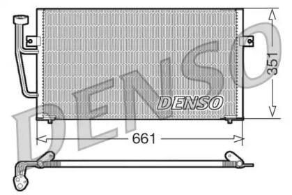 Радіатор кондиціонера на Мітсубісі Карізма DENSO DCN33008.