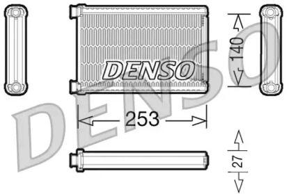 Радиатор печки 'DENSO DRR05005'.