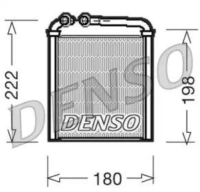 Радиатор печки на SKODA OCTAVIA A5 'DENSO DRR32005'.