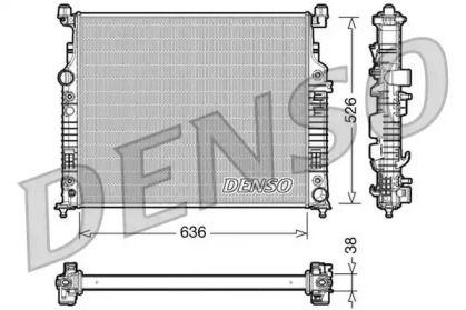 Алюмінієвий радіатор охолодження двигуна на Мерседес Гл Клас  DENSO DRM17006.