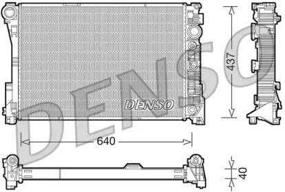 Радіатор охолодження двигуна на Mercedes-Benz GLK  DENSO DRM17046.