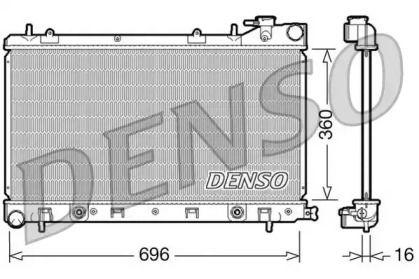 Алюмінієвий радіатор охолодження двигуна DENSO DRM36002.