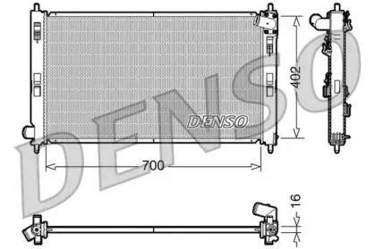 Алюмінієвий радіатор охолодження двигуна на MITSUBISHI ASX 'DENSO DRM45023'.