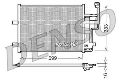 Радіатор кондиціонера на MAZDA PREMACY DENSO DCN44003.