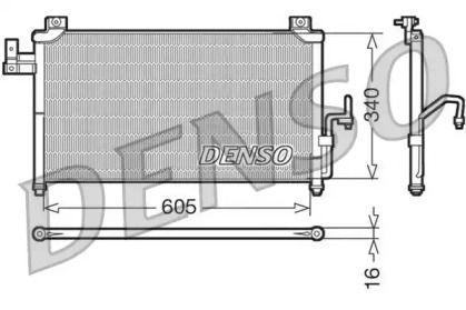 Радіатор кондиціонера на Мазда Премаси DENSO DCN44005.