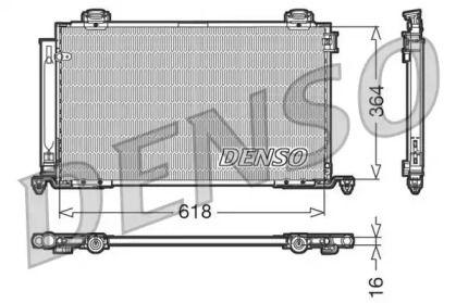 Радіатор кондиціонера 'DENSO DCN50015'.