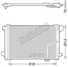 Радіатор кондиціонера на Мерседес W212 DENSO DCN17035.