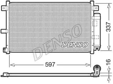 Радиатор кондиционера на Мазда МХ5 DENSO DCN44001.