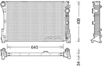 Радіатор охолодження двигуна на Мерседес ГЛК  DENSO DRM17048.
