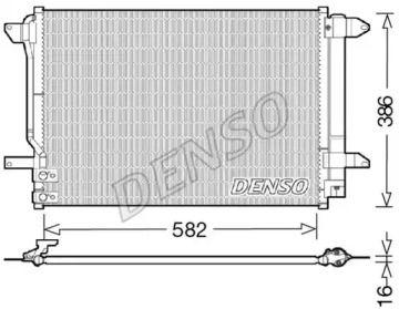 Радиатор кондиционера на Фольксваген Джетта 'DENSO DCN32027'.