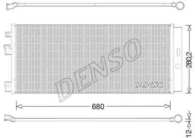Радиатор кондиционера на Опель Адам 'DENSO DCN20023'.