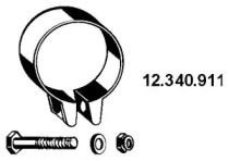 Хомут глушителя 'EBERSPACHER 12.340.911'.