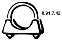 Хомут глушителя 'EBERSPACHER 8.91.7.42'.