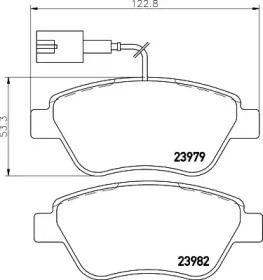 Гальмівні колодки MINTEX MDB2239.