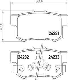 Тормозные колодки 'MINTEX MDB2710'.