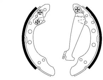 Барабанні гальмівні колодки MINTEX MFR373.