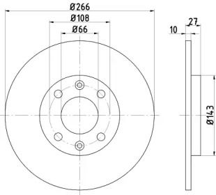 Тормозной диск 'MINTEX MDC338'.