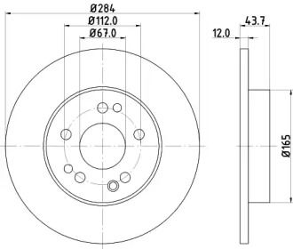 Гальмівний диск MINTEX MDC362.